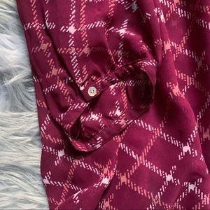 Motherhood Maternity Tops - Motherhood Maternity• burgundy fall chiffon blouse